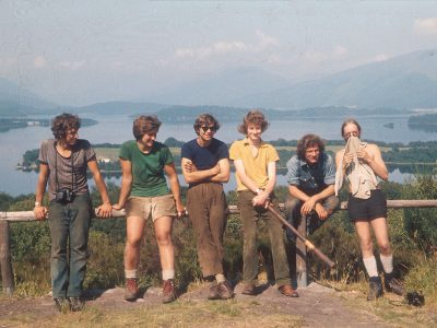 Footpath working party at Loch Lomond, Scotland