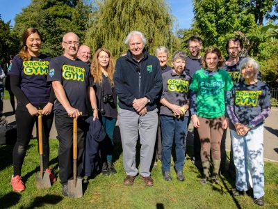 A ceremonial tree planting event to commemorate TCV's Vice President - Sir David Attenbourough's 90th birthday